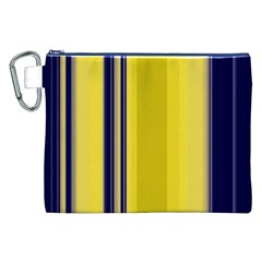 Yellow Blue Background Stripes Canvas Cosmetic Bag (XXL)