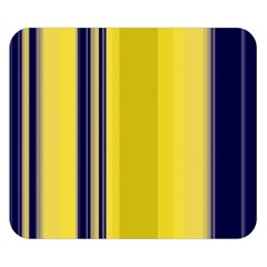 Yellow Blue Background Stripes Double Sided Flano Blanket (Small)