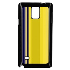 Yellow Blue Background Stripes Samsung Galaxy Note 4 Case (Black)