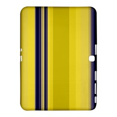 Yellow Blue Background Stripes Samsung Galaxy Tab 4 (10 1 ) Hardshell Case