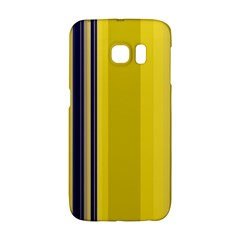Yellow Blue Background Stripes Galaxy S6 Edge