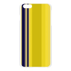 Yellow Blue Background Stripes Apple Seamless iPhone 6 Plus/6S Plus Case (Transparent)