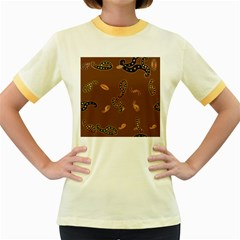 Brown Forms Women s Fitted Ringer T-Shirts