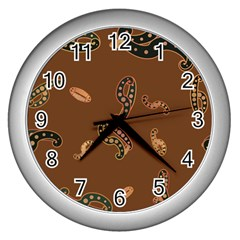 Brown Forms Wall Clocks (silver)