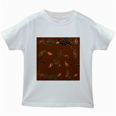 Brown Forms Kids White T Shirts
