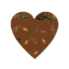 Brown Forms Heart Magnet