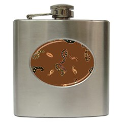 Brown Forms Hip Flask (6 oz)