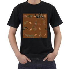 Brown Forms Men s T-Shirt (Black) (Two Sided)