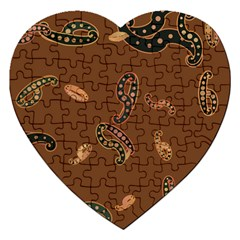 Brown Forms Jigsaw Puzzle (Heart)