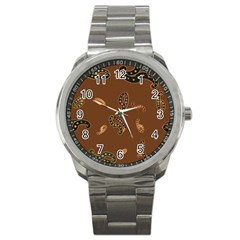 Brown Forms Sport Metal Watch