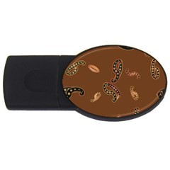 Brown Forms Usb Flash Drive Oval (4 Gb)