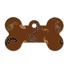 Brown Forms Dog Tag Bone (One Side)