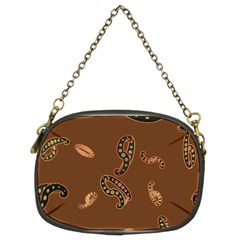 Brown Forms Chain Purses (two Sides)