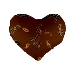 Brown Forms Standard 16  Premium Heart Shape Cushions