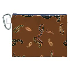 Brown Forms Canvas Cosmetic Bag (XXL)