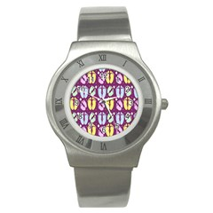 Baby Feet Patterned Backing Paper Pattern Stainless Steel Watch