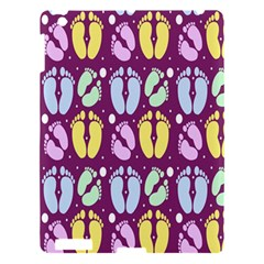 Baby Feet Patterned Backing Paper Pattern Apple iPad 3/4 Hardshell Case