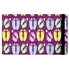 Baby Feet Patterned Backing Paper Pattern Apple iPad 2 Flip Case