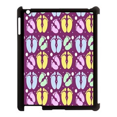 Baby Feet Patterned Backing Paper Pattern Apple iPad 3/4 Case (Black)