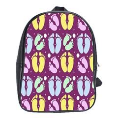 Baby Feet Patterned Backing Paper Pattern School Bags (xl)