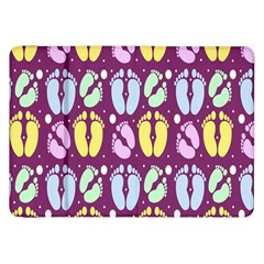 Baby Feet Patterned Backing Paper Pattern Samsung Galaxy Tab 8.9  P7300 Flip Case