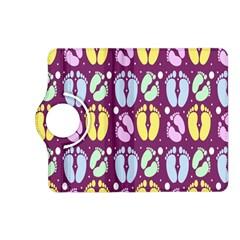 Baby Feet Patterned Backing Paper Pattern Kindle Fire Hd (2013) Flip 360 Case