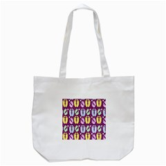 Baby Feet Patterned Backing Paper Pattern Tote Bag (White)