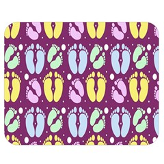 Baby Feet Patterned Backing Paper Pattern Double Sided Flano Blanket (Medium)