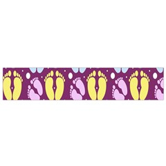 Baby Feet Patterned Backing Paper Pattern Flano Scarf (Small)