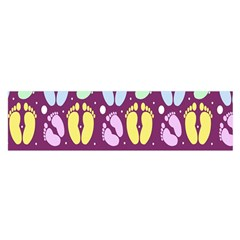 Baby Feet Patterned Backing Paper Pattern Satin Scarf (Oblong)