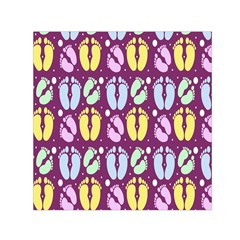 Baby Feet Patterned Backing Paper Pattern Small Satin Scarf (Square)