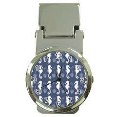 Seahorse And Shell Pattern Money Clip Watches