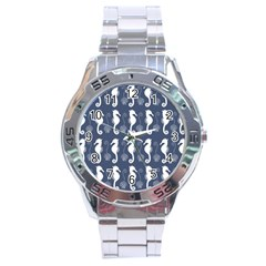 Seahorse And Shell Pattern Stainless Steel Analogue Watch