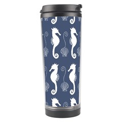Seahorse And Shell Pattern Travel Tumbler