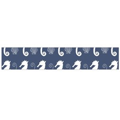 Seahorse And Shell Pattern Flano Scarf (Large)