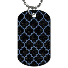 TIL1 BK-MRBL BL-DENM Dog Tag (One Side)