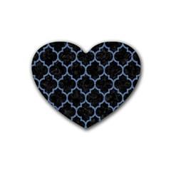 TIL1 BK-MRBL BL-DENM Rubber Coaster (Heart)