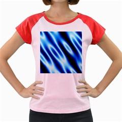 Grunge Blue White Pattern Background Women s Cap Sleeve T-Shirt