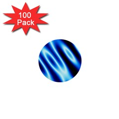 Grunge Blue White Pattern Background 1  Mini Buttons (100 pack)