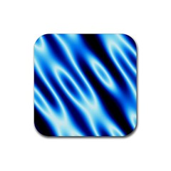 Grunge Blue White Pattern Background Rubber Square Coaster (4 pack)