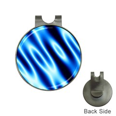 Grunge Blue White Pattern Background Hat Clips With Golf Markers