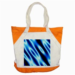 Grunge Blue White Pattern Background Accent Tote Bag