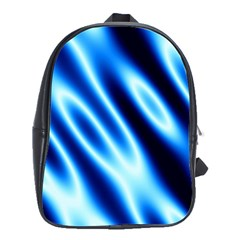 Grunge Blue White Pattern Background School Bags(Large)