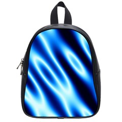 Grunge Blue White Pattern Background School Bags (Small)