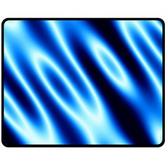 Grunge Blue White Pattern Background Fleece Blanket (medium)