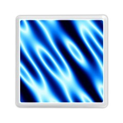 Grunge Blue White Pattern Background Memory Card Reader (square)