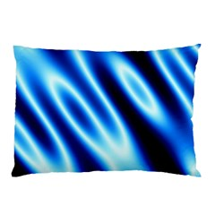 Grunge Blue White Pattern Background Pillow Case (two Sides)
