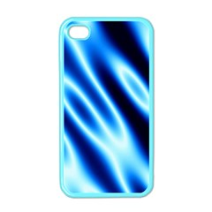 Grunge Blue White Pattern Background Apple Iphone 4 Case (color)