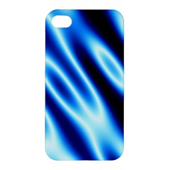 Grunge Blue White Pattern Background Apple iPhone 4/4S Premium Hardshell Case