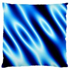 Grunge Blue White Pattern Background Large Cushion Case (One Side)